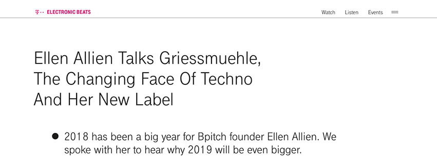 Electronic Beats Feature: Ellen Allien