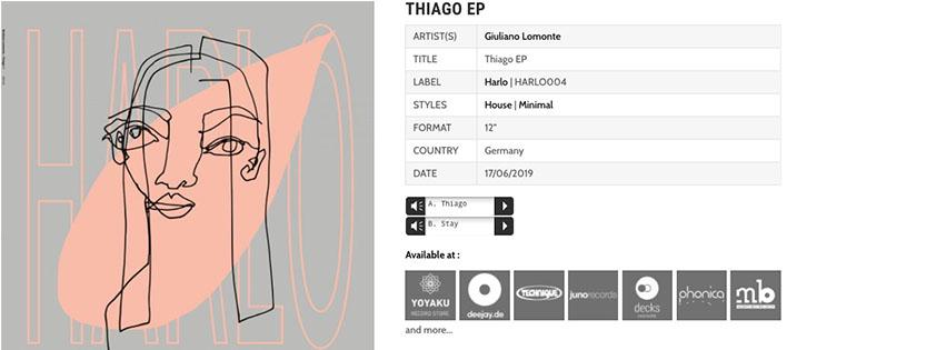 Release: Giuliano Lomonte – Thiago EP
